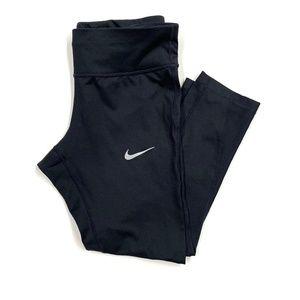 Nike Black Dri-Fit Adjustable Waist Crop Leggings